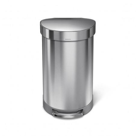 Balde p/ lixo 45Lt semi-redondo SIMPLEHUMAN CW2030