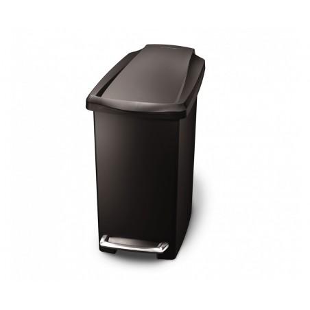 Balde p/ lixo slim preto SIMPLEHUMAN CW1329