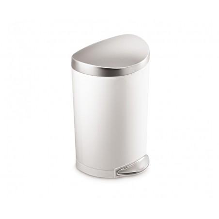 Balde p/ lixo semi-redondo branco SIMPLEHUMAN CW1867